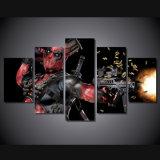 HD imprimió la lona automática Mc-029 del cuadro del cartel de la impresión de la decoración del taller de impresión de la lona de pintura del arma de la máscara de Deadpool