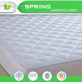 Todo clasifica el protector acolchado pista blanca hipoalérgica del colchón de la protección de la base
