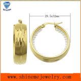금에 의하여 도금되는 보석 스테인리스 귀걸이 (ERS6900)