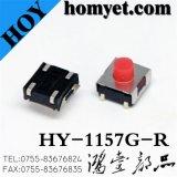 4pin de Micro- Tastbare Schakelaar van uitstekende kwaliteit met Kleurrijke Knoop (hy-1157G)