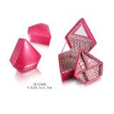 Caja/rectángulo de Cuero de la Joyería del Almacenaje del Embalaje del Regalo de la PU del Rojo Hecho a Mano del Diseño del Diamante