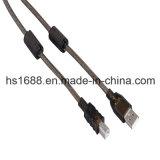 Schwarzes 65FT Gold überzogenes USB-Extensions-Kabel für Webcam