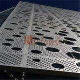Panel de aluminio perforado para revestimiento de fachada de pared de aluminio