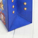 クリスマスの在庫のハンドルが付いているプラスチックギフト袋