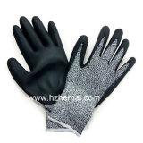 Schaumgummi-Nitril Hppe Faser-Handschuh-Antischnitt-Sicherheits-Arbeits-Handschuh