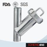ステンレス鋼締め金で止められたYのタイプ衛生学フィルター(JN-ST2003)
