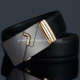 Cinghia nera del cricco del cuoio genuino dell'uomo di affari di alta qualità