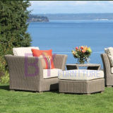 mobília ao ar livre dos lotes grandes de vime luxuosos do sofá do Rattan do jardim by-473