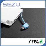 Batería portable de la potencia de la tarjeta delgada con el cable de la carga para ADN Samsung del iPhone conveniente para el regalo promocional