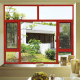 Het poeder Met een laag bedekte Openslaand raam van het Aluminium met Dubbel Glas (voet-W108)