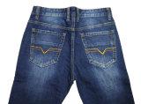 Calças de brim da sarja de Nimes dos homens da fábrica do vestuário da boa qualidade (N16635)