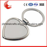 Coste libre del molde de la venta directa de la fábrica del espacio en blanco Keychain del metal