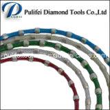 Collegare di gomma sinterizzato di taglio del diamante della fune metallica della molla per granito
