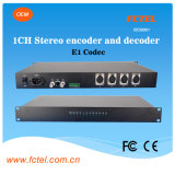 E1 Codec, Encoder 및 Decoder에 19inch 1 Channel XLR Stereo Audio