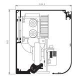 Luftdicht verschlossener automatischer Tür-Bediener