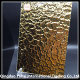 Ripple Pattern를 가진 4mm Golden Yellow Colored Glass