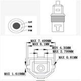 Metallo grigio Toslink Audiocable di fibra ottica di colore