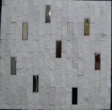 Плитка мозаики самой последней нержавеющей стали естественная каменная для стены строительного материала дома (FYSM087)