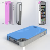 Caixa macia por atacado do telefone da borracha de silicone