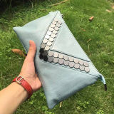 Enveloppe réelle de sac en cuir de mode de luxe colorée la mini saisit le sac à main Emg4579