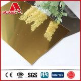 Silberner/goldener Spiegel zusammengesetztes Plastc Aluminiumpanel