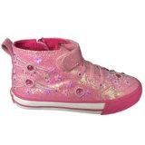 La vente en gros chaude de modèle de la mode de type la plus neuve badine les chaussures de toile fuchsia