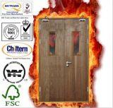 Porte coupe-feu/porte en bois solide/porte coupe-feu en bois avec BS476 britannique certifié/porte de sûreté/porte en bois