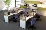 Partición moderna de la oficina de Alibaba del cubículo de la melamina modular de madera del sitio de trabajo (SZ-WST744)