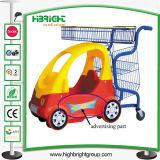 L'affitto concentrare di Shoping scherza il carrello d'acquisto dei bambini