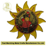 Médaille avec la forme du tournesol
