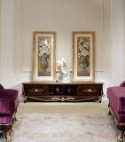 Klassischer hölzerner Wohnzimmer Möbel-Schrank