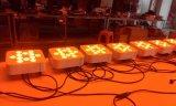 Lumière plate de PARITÉ du galet chaud DEL de 5in1 Rgbaw 12X15W