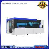 Автомат для резки лазера металла волокна большого диапазона автомобиля наилучшим образом округленный закрытый голубой