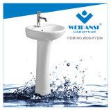 Bassin en céramique de lavage de lavabo sur pied de lavage de Weidansi (WDS-P7204)