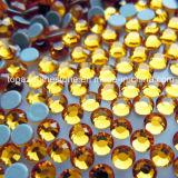 2016 Rhinestones calientes cristalinos de la parte posterior plana del arreglo de la alta calidad para la ropa (grado de SS10 Emerald/4A)