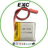 772930 bateria do Li-Polímero de 3.7V 650mAh