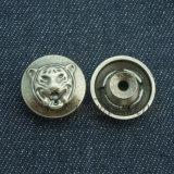 Таможня печатает кнопку на машинке джинсыов металла способа никеля