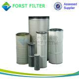 Cartucho de filtro auto de la capa del polvo de la membrana de Forst PTFE