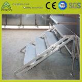 Estágio dobrável do fardo de alumínio pequeno do diodo emissor de luz da madeira compensada do desempenho da exposição