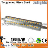 diodo emissor de luz R7s Double Ended Bulb de 118mm SMD2835 9W