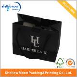 Sacco d'argento personalizzato dell'imballaggio del regalo del nero di marchio (QYZ091)