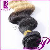 Tonalité de la vague deux de corps de prolongements de cheveux brésiliens en gros/cheveux humains
