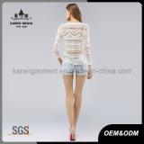De v-Hals van vrouwen de Gestreepte Bebouwde Sweater van de Zon van Bovenkanten