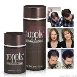 As fibras do edifício do cabelo de Toppik & engrossam soluções naturais de diluição da queratina do cabelo para o cabelo cheio imediatamente 25g Brown escuro do reenchimento das mulheres dos homens