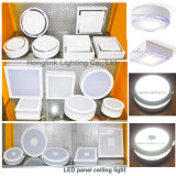 luz del panel doble del cuadrado LED del montaje superficial del techo del color 3With6With12With18W