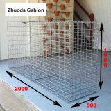 Hecho en la cesta soldada Galfan de China los 2X1X0.5m Gabion