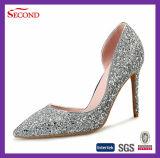 Goldene Farben-Funkeln-Bohrgerät-Frauen-Schuhe
