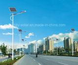 Luz de rua solar elevada do lúmen 30W com 6m Pólo