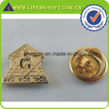 Antique Brass Custom Masonic Pin de la solapa