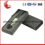 Metal de couro feito sob encomenda Keychain da forma nova quente do projeto da venda com caixa